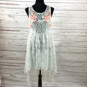 Free People High Low Lace Dress A-Line Size S/P